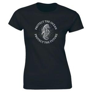 Half It Tops - Protect The Ocean Life Beach Fish -  Women T-shirt